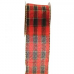 TARTAN WIRED EDGE RIBBON  RI7120